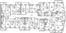 Общий план с 14 по 19 этаж