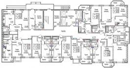 Общий план со 2 по 5 этаж
