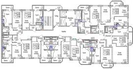 Общий план с 6 по 13 этаж