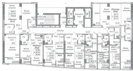 Общий план этажа. Секция 3